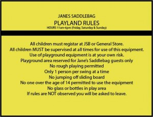 Playland Rules
